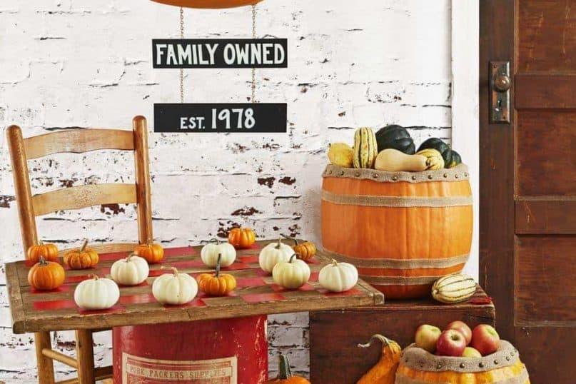 Classic pumpkin decoration
